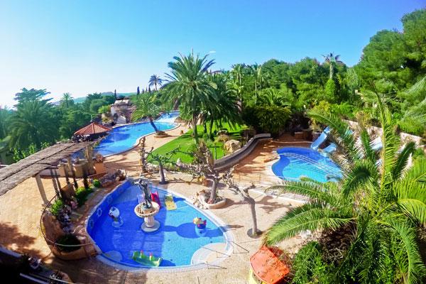 Camping met zwemparadijs in Spanje
