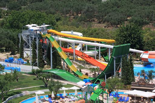 Fantastisch aquapark bij all-inclusive hotel in Griekenland