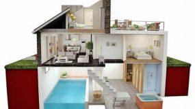 Privé binnenzwembad in vakantiehuis in Nederland