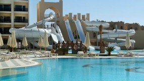 Zwemresort met leuke glijbanen in Egypte