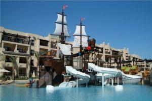 Zwemresort met glijbanen in Egypte