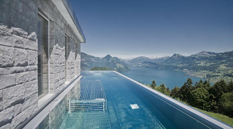 Luxe wintersportvakantie op schitterende locatie met mooie zwembaden