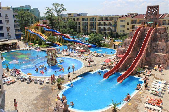 Bijzondere glijbanen in een sfeervol hotel in Bulgarije