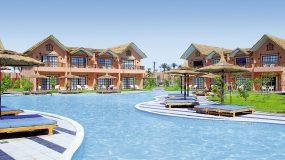 Fantastische glijbanen bij luxe hotel in Egypte