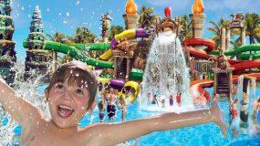 Spetterend waterpark bij hotel op Mallorca