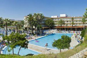 familiehotel met talloze glijbanen in Spanje