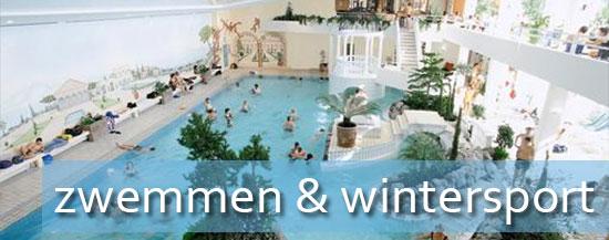 Zwembad bij hotel wintersport