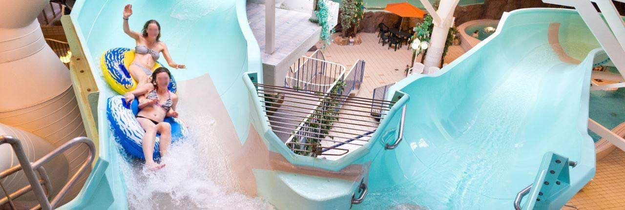 Duits landal vakantiepark met een groot waterpark / zwemparadijs.