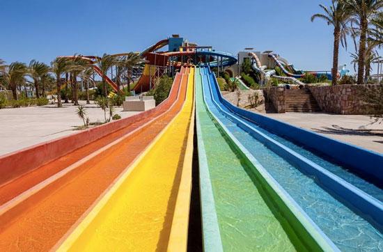 Fantastisch hotel in Egypte met aquapark met 50 glijbanen