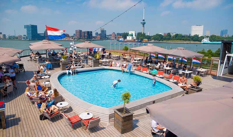 Hotel met buitenzwembad in Rotterdam