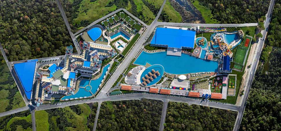Mega zwemparadijs bij hotel Granada Luxury Belek