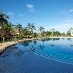 Prachtig grote zwembaden bij goed hotel op Mauritius