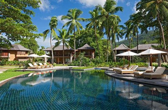 Hotel met zwembad op de Seychellen