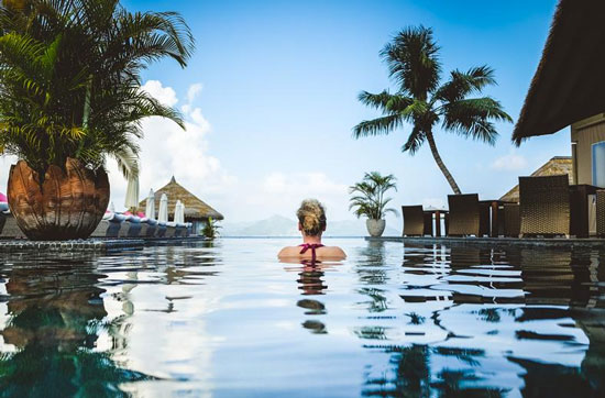 Resort met infinity pool Seychellen