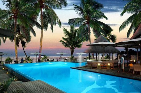 Hotel met infinity pool op de Seychellen