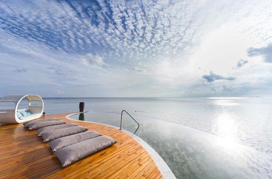 Resort met droomzwembad op de Seychellen