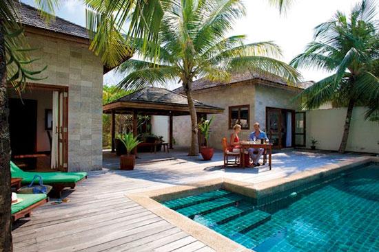 Resort met infinity pool Malediven