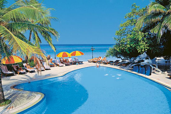 Malediven met zwembad