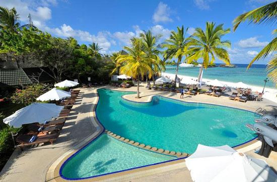 Vakantie met groot zwembad Malediven
