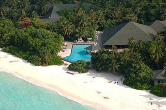 Malediven met groot zwembad
