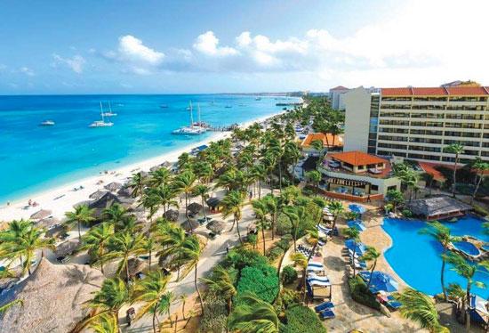 Hotel Aruba met groot zwembad