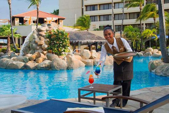 Vakantie Aruba met groot zwembad