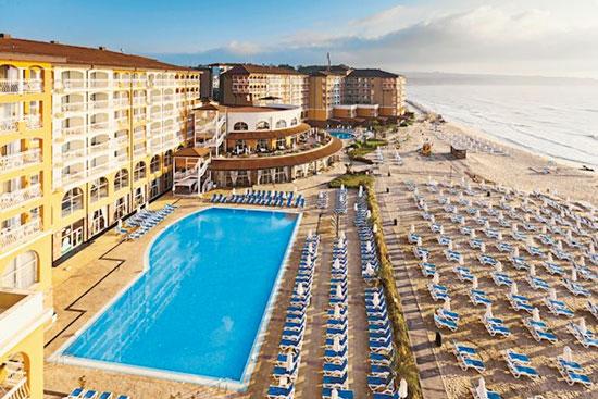 Super-de-luxe all-inclusive hotel met aquapark aan de Bulgaarse kust