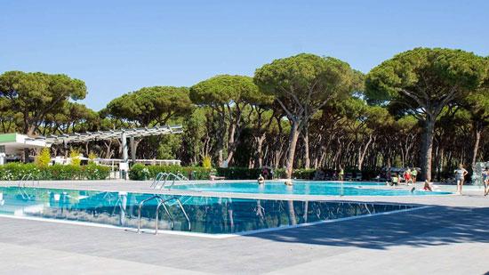 Camping vlakbij Rome met grote zwembaden