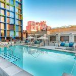 Hip hotel met zwembad aan de Las Vegas Strip