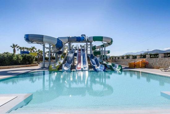 Vakantie Kreta met waterglijbanen