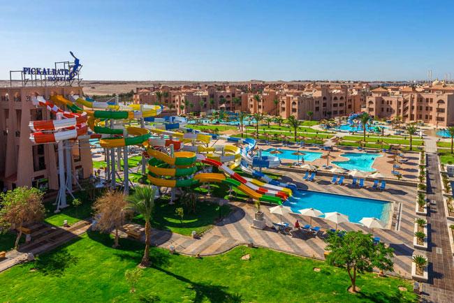 Groot waterpark in Hurghada, Egypte