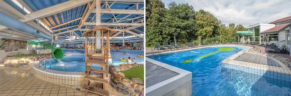 Vakantiepark Limburg waar je binnen en buiten kunt zwemmen.