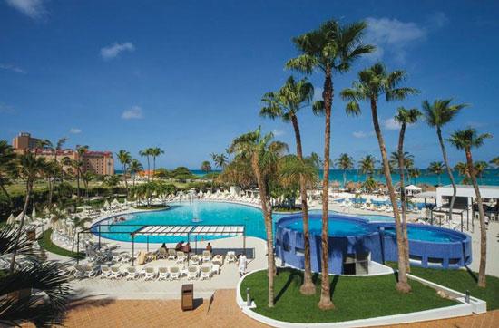 Resort Aruba met mega zwembad