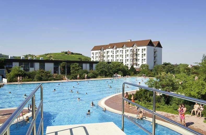 Hotel midden-Duitsland (Pfalz, dichtbij Mannheim), met grootste spa ter wereld en fantastisch aquapark.